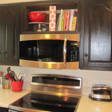 Traditional Kitchen Black & White Kitchen Update