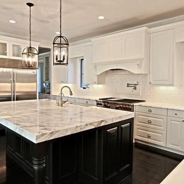 Black and White marble kitchen, Denver, CO