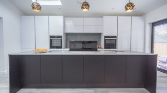 Black and White units with Neolith Worktop