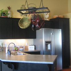 Traditional Kitchen Black Cabinets