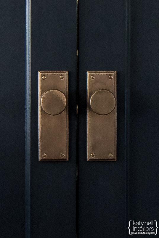 Black doors, Bronze Hardware