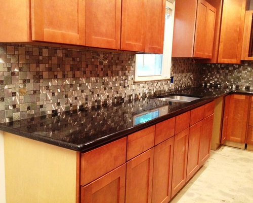Black galaxy countertop houzz Kitchen platform granite design