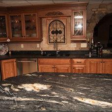 Mediterranean Kitchen by Custom Marble & Granite