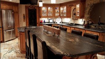 Black Granite Table - Tuscan Kitchen