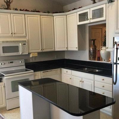 American Traditional Kitchen by Gomez Granite Countertops