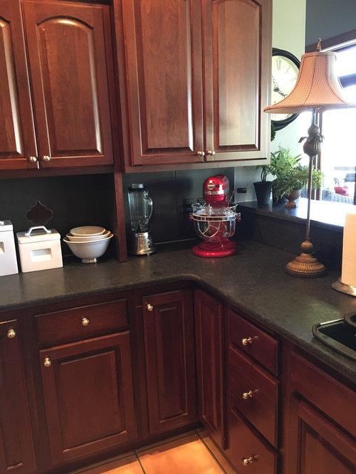 Black Pearl Satin Granite Kitchen Counter Tops