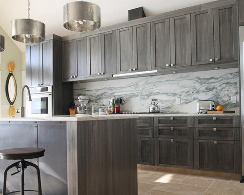 Contemporary Gray Kitchen Cabinets warm gray kitchen cabinets | houzz