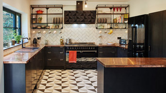 Black Valchromat and Copper Kitchen