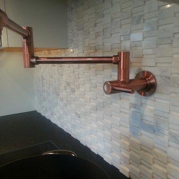 Black, white, and copper Kitchen remodel