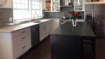 Black, White, & Leather Kitchen