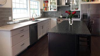 Black, White, & Leather Kitchen