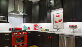 Black, White & Red Kitchen