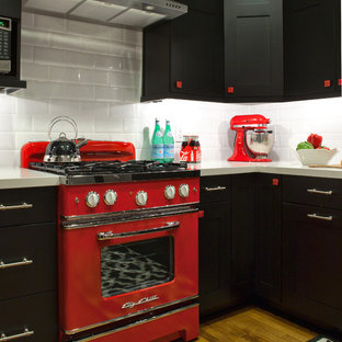 Black White Red Kitchen Houzz