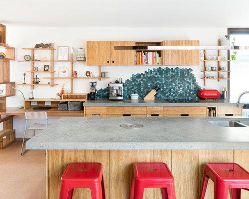 k chen mit korkboden ideen design bilder houzz. Black Bedroom Furniture Sets. Home Design Ideas