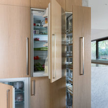 Fridge and Tall Cabinets next to it