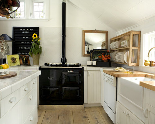 skandinavische küchen mit arbeitsplatte aus fliesen ideen & bilder