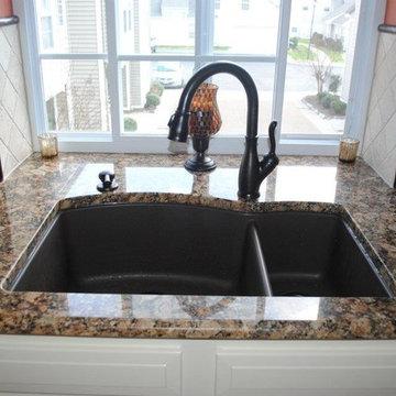 Blanco Silgranite Sink, Oil Rubbed Bronze Finish Faucet