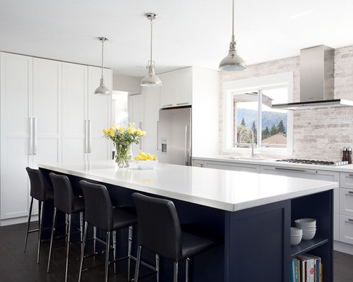 Navy Blue Cabinets Home Design Ideas Pictures Remodel