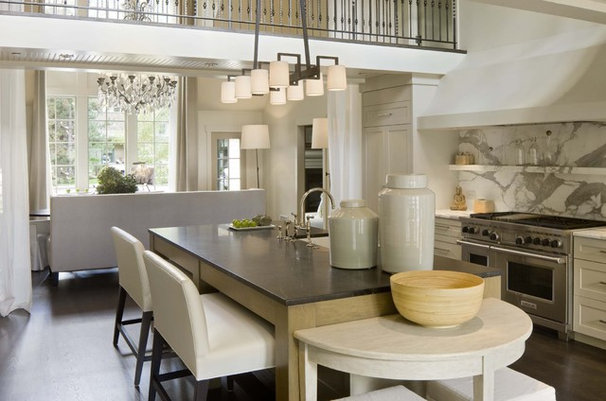 Transitional Kitchen by DHR Architecture