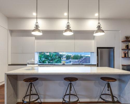 Cool ralisation duune cuisine ouverte linaire design de - Cuisine lineaire design ...