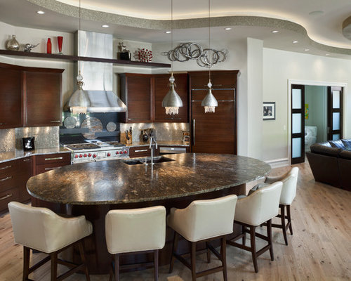 Oval Island Home Design Ideas Pictures Remodel And Decor