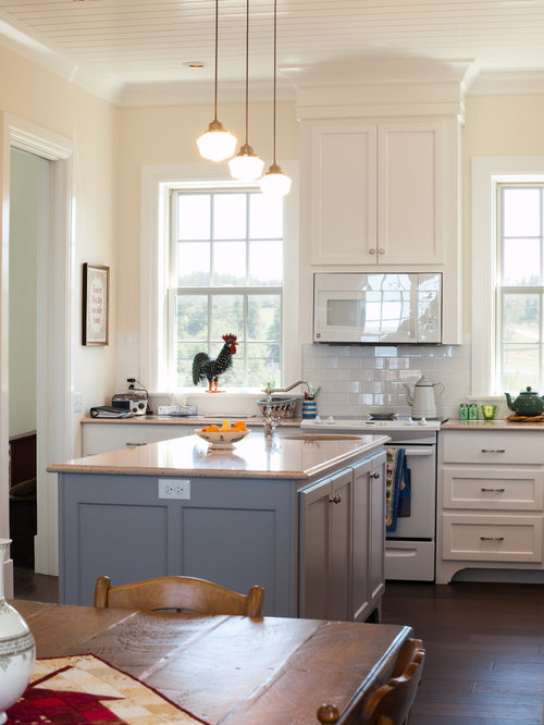 White Kitchen Grey Island white cabinets with grey island home design ideas, pictures