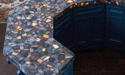 Blue Agate Counter Top Aura Semi Precious Stone