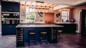 Blue & Copper Shaker Style Kitchen