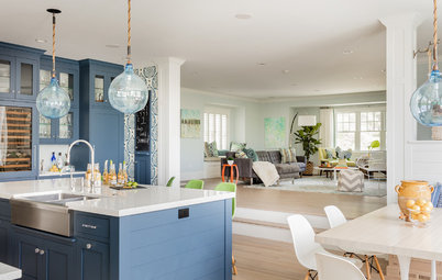 Tranquil Blue-and-White Kitchen Packs In Style and Function
