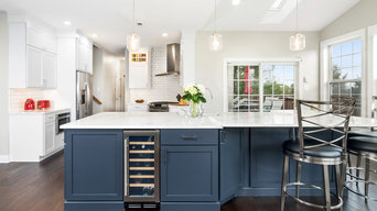 Blue and White Kitchen in Yardley
