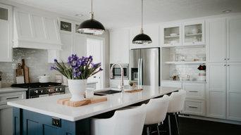 Blue & White Kitchen + Laundry Remodel