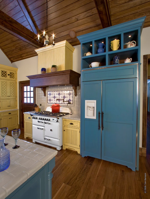 Blue Yellow French Country Kitchen