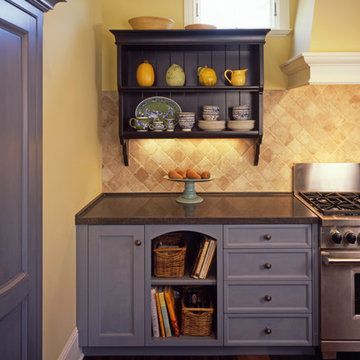 Blue and Yellow Kitchen