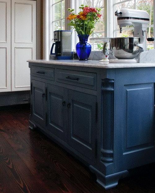 Painted Kitchen Island Ideas: Indigo Paint Home Design Ideas, Renovations & Photos