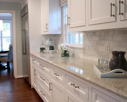 SaveEmail - Carrara Marble Backsplash Design Ideas & Remodel Pictures Houzz