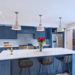 Blue Kensington Kitchen