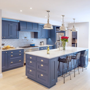 Blue Kensington Kitchen