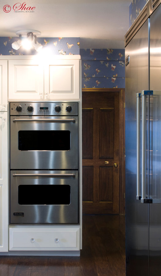 Blue Kitchen with Double Oven