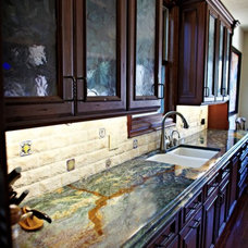 Traditional Kitchen by Stone Pros Marble and Granite, Inc.