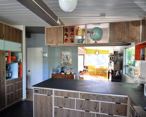 Mixed Wood Cabinets | Houzz