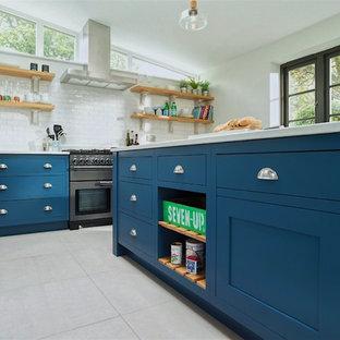 Blue Shaker Kitchen in Hitchin