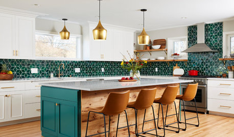 What Type of Splashback Would Go With a Green Kitchen?