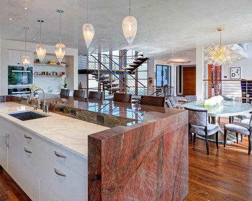 Contemporary Kitchen Pictures   Kitchen   Contemporary Medium Tone Wood  Floor And Brown Floor Kitchen Idea