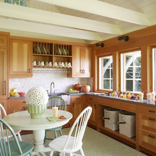Small Traditional Open Concept Kitchen Appliance   Small Elegant L Shaped  Dark Wood Floor Open