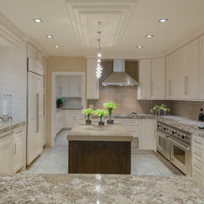 Transitional Kitchen by Michael Laurenzano Photography