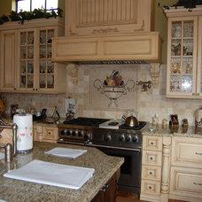 Mediterranean Kitchen by Kogen Construction, Inc