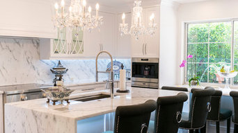 Boca Raton, Transitional Sleek White Kitchen