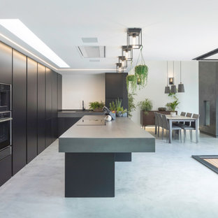 This is an example of a modern kitchen in Channel Islands.