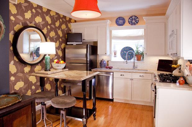 エクレクティック キッチン by Lisa Wolfe Design, Ltd