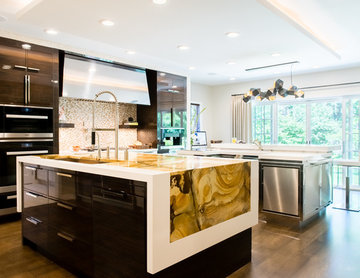 Bold & Beckoning Modern Kitchen Addition and Renovation